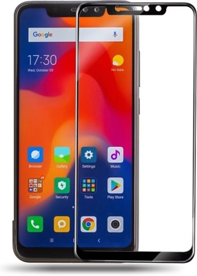 sadgatih Edge To Edge Tempered Glass for XIAOMI REDMI MI NOTE 6 PRO ( pack of 1)(Pack of 1)