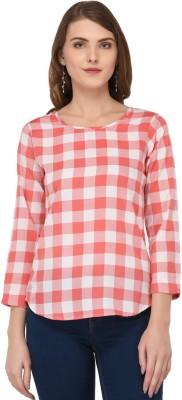 A Luv Ya Casual Half Sleeve Checkered Women
