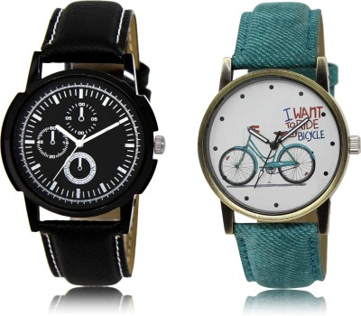 Woxen New Casual And Formal Stylish Attractive Analogue Combo-LR-32-229-COMBO Watch  - For Boys & Girls