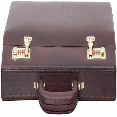 Leatherman 1004 Medium Briefcase - For Men & Women(brown)