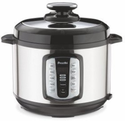 Preethi Touch 5 Ltr Electric Pressure Electric Rice Cooker with Steaming Feature(6 L, Black) at flipkart
