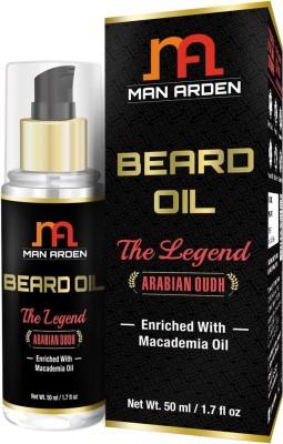 Man Arden Beard & Mustache Oil - The Legend (Arabian Oudh) - With Macademia Oil Hair Oil(50 ml) at flipkart