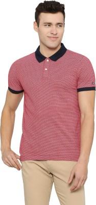 U.S. Polo Assn Printed Men Polo Neck Red T-Shirt