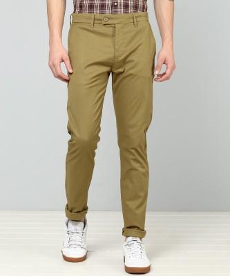 Levi's Slim Fit Men Brown Trousers at flipkart