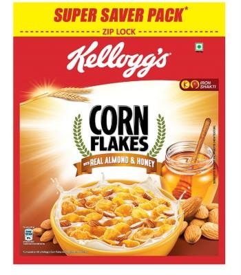 Kellogg's Corn Flakes Real Almond & Honey(1 kg, Pouch)