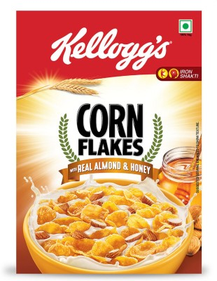 Kellogg's Corn Flakes Real Almond & Honey(650 g, Box)