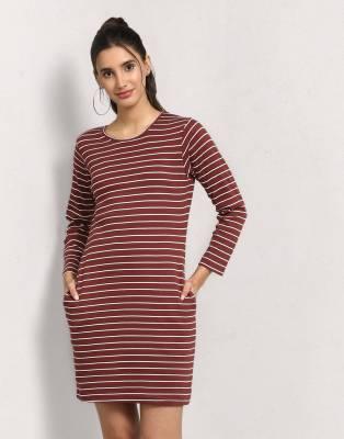 Metronaut Women's Bodycon Brown Dress