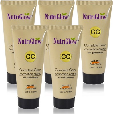 NutriGlow CC-Cream-50ml(Pack Of 5)(50 ml) at flipkart