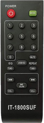 LipiWorld T-1800 SUF Home Theater System Remote Control Compatible for INTEX Home Theater. Intex Remote Controller(Black)