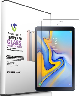 MOBIVIILE Tempered Glass Guard for Samsung Galaxy Tab A 10.5 inch(Pack of 2)