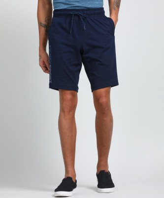 Jockey Solid Men Blue Sports Shorts
