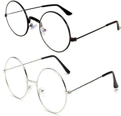 kingsunglasses Round Sunglasses(For Men & Women, Clear)