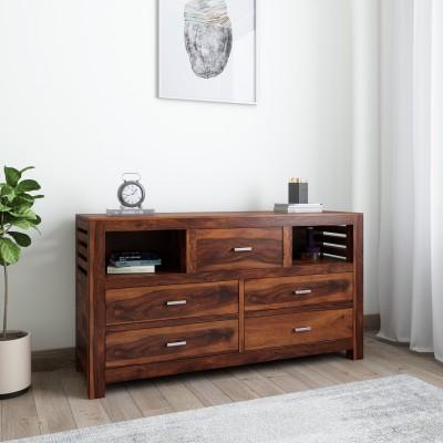 Furnspace Reizo Paulownia (2 Drawer) Engineered Wood Free Standing Chest of Drawers(Finish Color - Black Paulownia)