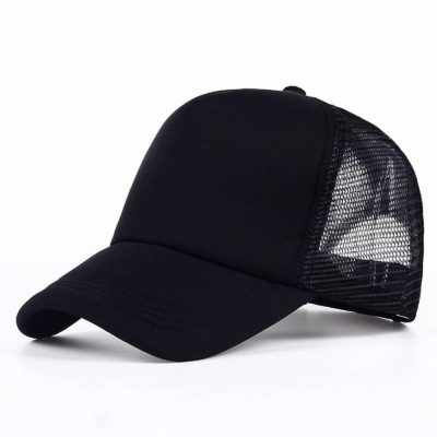 Dcmr Solid Stylish Cotton Baseball Adjustable Black Cap For Mens Cap