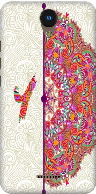 AMEZ Back Cover for Moicromax YU Yunique 2(Multicolor Alphabet Y Ornamental Circle Floral, Hard Case, Plastic)