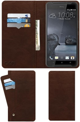 ACM Flip Cover for Htc One X9(Brown, Cases with Holder)