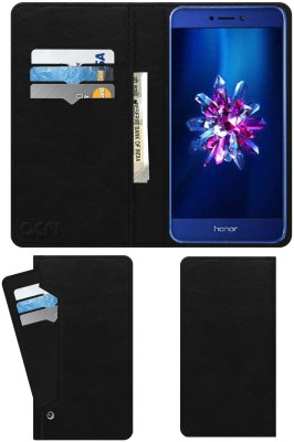 ACM Wallet Case Cover for Honor 9 Lite Royal Black, Cases with Holder, Artificial Leather