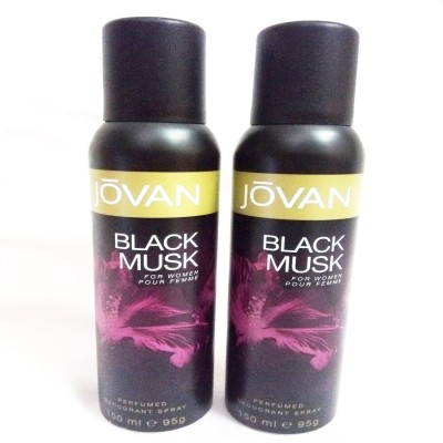 Jovan BLACK MUSK Body Spray  -  For Women(300 ml, Pack of 2) Flipkart