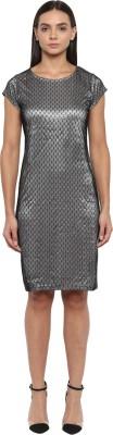 Park Avenue Women Sheath Silver Dress