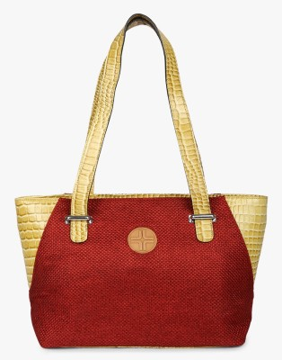 JL Collections Women Red, Yellow Shoulder Bag