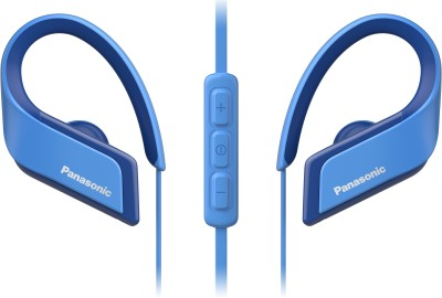 Panasonic RP-BTS35E-A Wired Headset(Blue, In the Ear)