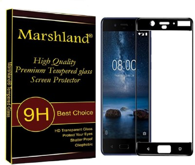 Marshland Edge To Edge Tempered Glass for Nokia 8(Pack of 1)