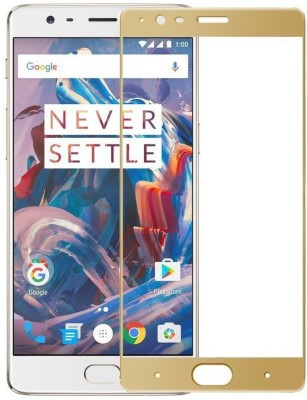 Marshland Tempered Glass Guard for OnePlus 3/3T, Oleo phobic Coating 99% Transparency, Ultra Smooth Quality 0.33mm Thickness, 9H Hardness Anti Scratch Screen Protector, (Gold)(Pack of 1)