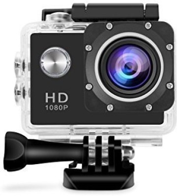 Spring Jump 1080P Action Camera Effective 12Mp 1080p Wide Angle Lens Waterproof Sports Camera Sports and Action Camera(Black 12 MP) 1