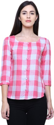 Fangio Casual 3/4th Sleeve Checkered Women