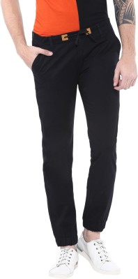 Urbano Fashion Slim Fit Men Black Trousers at flipkart