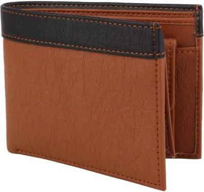 LANDER Men Casual Brown Artificial Leather Wallet 9 Card Slots