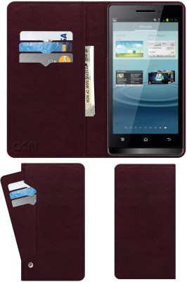 ACM Flip Cover for Karbonn Smart A7 Star(Maroon, Cases with Holder)