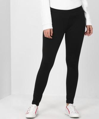 United Colors of Benetton Legging(Black, Solid)
