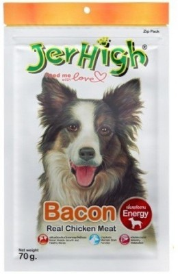 Goofy Tails JerHigh Bacon 70G Bacon Dog Treat(70 g, Pack of 12)