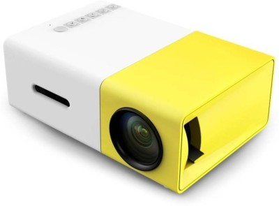 Zeom Mini YG-300 LED Projector with USB/SD/AV/HDMI Input - 320 x 240 Pixels 3.5mm Audio Interface White/yellow led Pocket Portable Projector(Yellow/ White) Portable Projector(White)