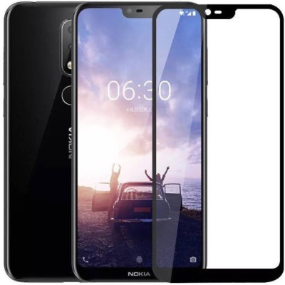 RR Design Tempered Glass Guard for Nokia X6 black(Pack of 1)