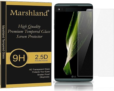 Marshland Tempered Glass Guard for Crystal Clear 99% Transparency 9H Hardness Bubble-Free 0.33mm Thickness Oleo Phobic Coating Anti Scratch, lg v20(Pack of 1)