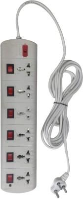 Ruhi BR_084 6 Socket Surge Protector White