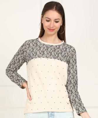 Allen Solly Full Sleeve Printed Women Sweatshirt at flipkart