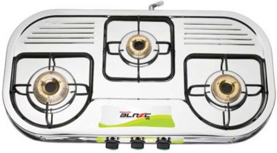 Butterfly Blaze Stainless Steel Manual Gas Stove(3 Burners)