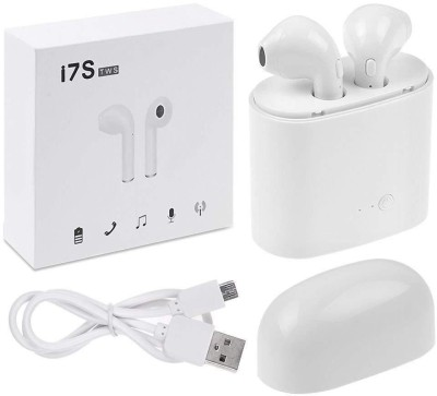 Golden Bell i7S TWS Bluetooth Headset with Mic(White, In the Ear)