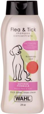 Wahl Flea and Tick Shampoo, Rosemary Mint Flea and Tick Rosemary Mint Dog Shampoo(710 ml)