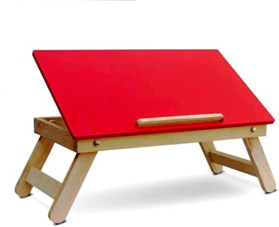 IBS lapdesk Foldable Wood Portable Laptop Table(Finish Color - RED)