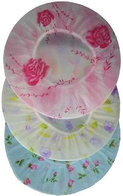 Kritika Enterprise Bath shower cap set of 3 (multi colour)