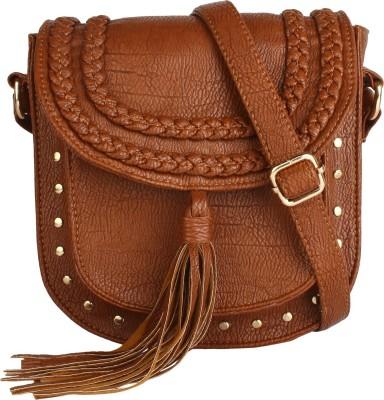 Lychee Bags Brown Sling Bag