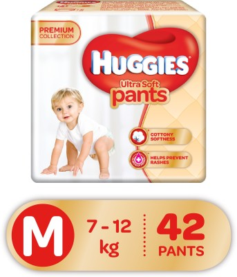 Huggies Ultra Soft Pants Premium Baby M Diapers (42 Pieces)