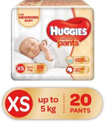 Huggies Ultra Soft XS Size Diaper Pants - XS(20 Pieces)