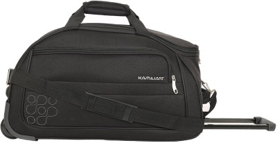 KAMILIANT GAHO WHEEL DUFFLE 62 cm-BLACK Duffel Strolley Bag(Black) at flipkart