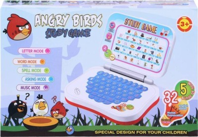 Starsky Angry Bird Study Game Mini Learning Laptop for Toddlers (Red)-Battery Operated (Multicolor)(Multicolor)