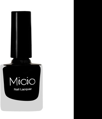 Micio Luxurious Collection of Glossy Nail Lacquer Sinful Black at flipkart